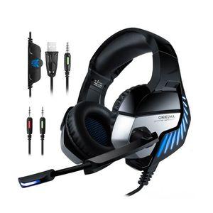 Onikuma  Audífonos alámbricos gamer over ear K5 Pro