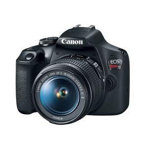 Canon  EOS Rebel T7 Kit de 2 lentes DSLR EF-S 18-55mm y EF 75-300mm para video cámara