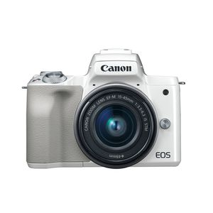 Canon EOS M50 Kit de cámara Mirrorless Vlogging  y lente EF-M 15-45mm video 4K Wi-Fi integrado, con NFC y bluetooth