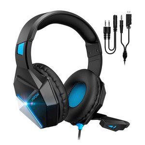 Mpow Audífonos alámbricos over ear gamer EG10