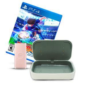 Bundle Batería Portátil Samsung Carga Inalámbrica Qi 15W + 1 Videojuego para PS4 + Cargador UV