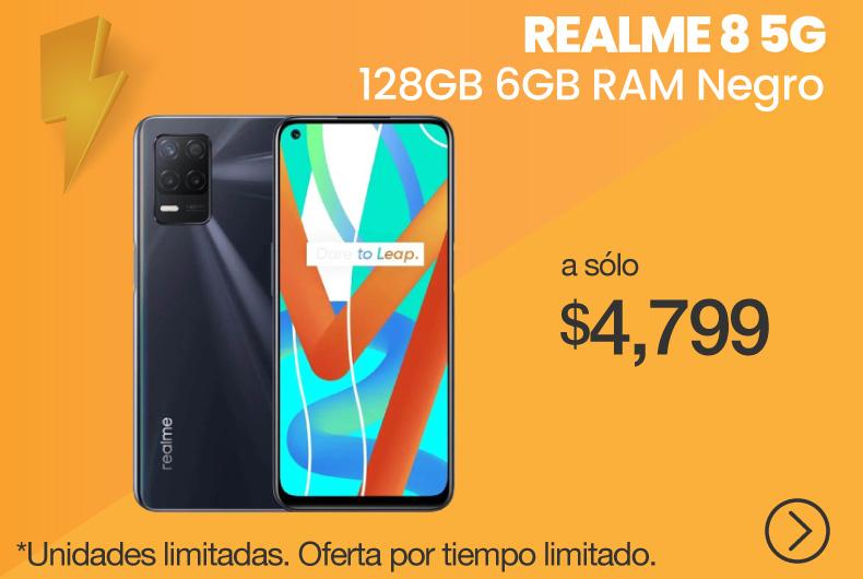 Realme 8 5G 128GB 6GB Negro Supersónico