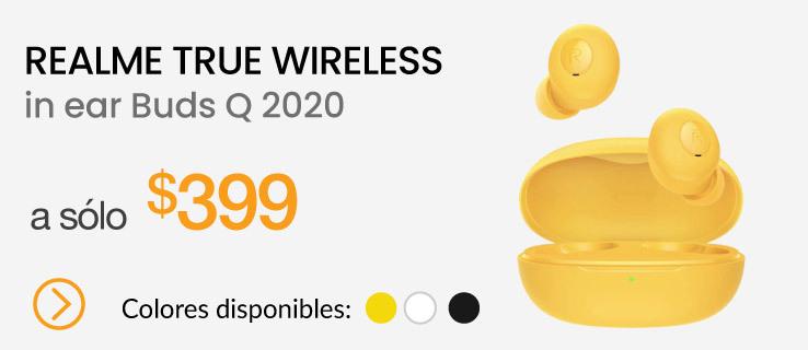 Realme Audífonos true wireless in ear Buds Q 2020 Amarillo