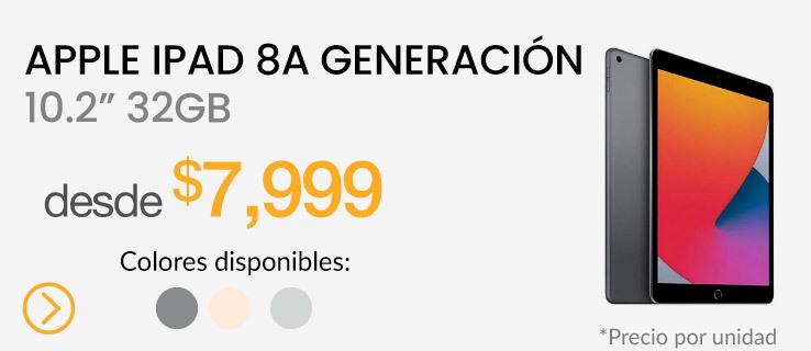 """Apple iPad 8a Generación 10.2"""" WiFi 2020 32GB"""