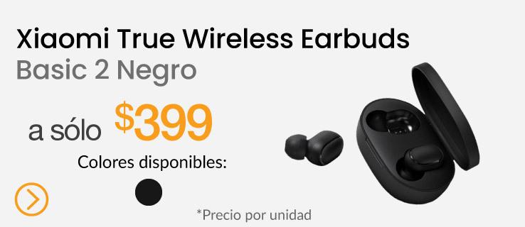 Xiaomi Audífonos True Wireless Earbuds Basic 2 Negro
