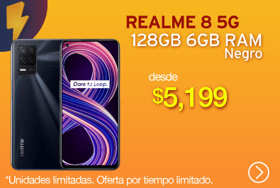 Realme 8 5G 128GB 6GB Negro