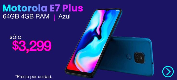 Motorola E7 Plus 64GB 4GB Azul