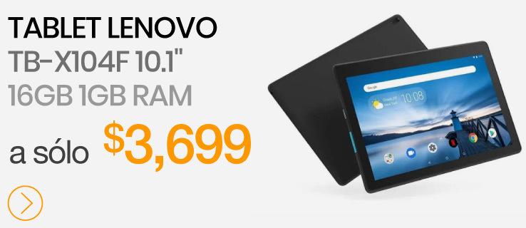 "Tablet Lenovo TB-X104F 10.1"" 16GB 1GB Ram caracteristicas doto mexico"