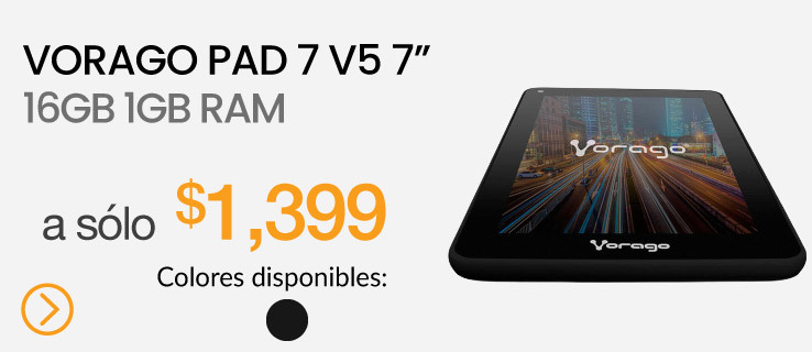 "Vorago Pad 7 V5 7"" 16GB 1GB Negro"
