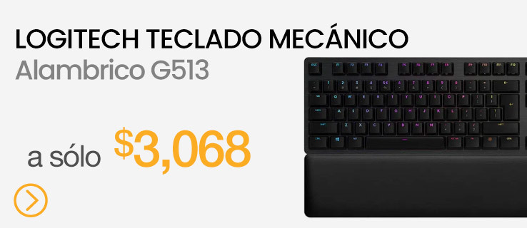 Logitech Teclado Mecánico Gaming RGB G513 Negro