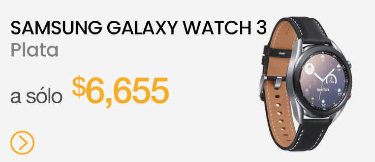Samsung Galaxy Watch 3 41mm Acero inoxidable Correa de piel Negra - Plata